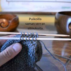Silmukoimalla päätteleminen - kaksi tapaa - Neulovilla Fingerless Gloves, Arm Warmers, Knit Crochet, Knitting, Blog, Crafts, Crochet Ideas, Tips, Fingerless Mitts