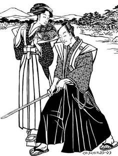 Japanese Hakama & Kataginu Pattern