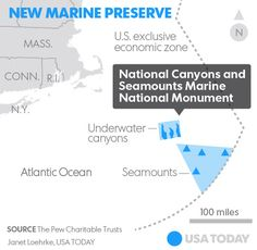 President Obama will designate the first marine national monument in the Atlantic Ocean Thursday. Columbia U, Save Our Oceans, Atlantic Ocean, Global Warming, Obama, Thursday, Drill, Presidents, Acting