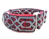 "Houndstown 1.5"" Red Celtic Twist Martingale Collar"