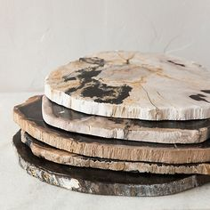 Love petrified wood and even better when its turned into something practical and beautiful like this.