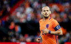 Herunterladen hintergrundbild wesley sneijder, 4k, fußball, fußballspieler, holländische nationalmannschaft, mittelfeldspieler