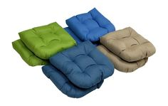 High Quality - Indoor/Outdoor - Solid Seat Cushions- Set of 2