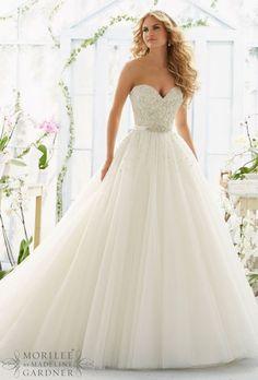 Wedding dress idea; Featured: Mori Lee