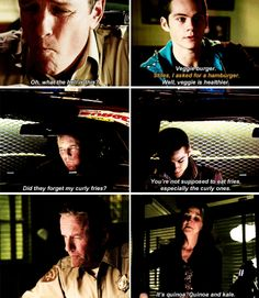 Teen Wolf 6x02 - Sheriff 'just lemme have some fast food for God's sake' Stilinski