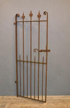 Decorative Antique wrought iron pedestrian gate