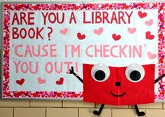 Valentine's Day Bulletin Board Ideas for the Classroom - Crafty Morning Valentine's Day Bulletin Board Ideas . Valentine's Day Bulletin Board Ideas for the Classroom - Crafty Morning Valentine's Day Bulletin Board Ideas . February Bulletin Boards, Valentines Day Bulletin Board, Reading Bulletin Boards, Winter Bulletin Boards, Bulletin Board Display, Display Boards, School Library Displays, Library Themes, Library Activities