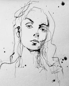 #art #gallery #drawing #inkdrawing #ink #girl,  #Art #drawing #Gallery #Girl #ink #InkPaintingpeople #inkdrawing Closed Eyes, Ink Painting, Inked Girls, Art Gallery, Painting People, Expressionism, Drawings, Pintura, Tattoo Girls