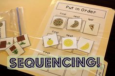 File Folder Activities to Work on Sequencing to challenge your students with autism & practice this important skill! from theautismhelper.com