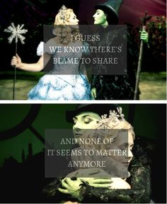 For Good Am I the only one who is really sad that Glinda will never know that Elphaba and Fiyero are alive? Wicked Musical, Wicked Witch, Theatre Nerds, Music Theater, Broadway Theatre, Broadway Shows, For Good Wicked, The Witches Of Oz, Something Wicked