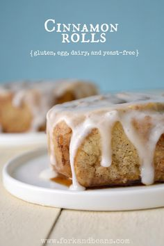 Would you even know that these sweet cinnamon rolls are gluten-, dairy-, egg-, and yeast-free?