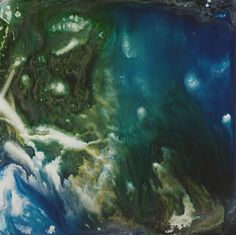 Keith Tyson, mixed media on aluminium, nature paintings Nature Paintings, Landscape Paintings, Louisiana Museum, Hayward Gallery, Institute Of Contemporary Art, Art Courses, Aerial View, Clouds, Fine Art