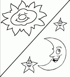 Days Of Creation Coloring Pages Christian Preschool Creation Coloring Pages, Star Coloring Pages, School Coloring Pages, Free Coloring Sheets, Cat Coloring Page, Coloring Rocks, 7 Days Of Creation, Creation Crafts, Bible School Crafts