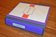 Binders 101: Manuals