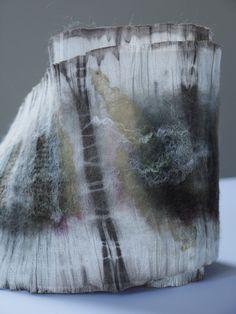 nuno silk scarf, natural dye by textile artist Claire Cawte