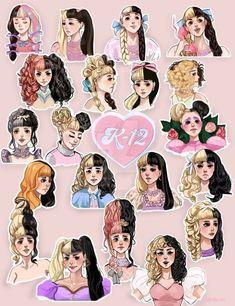 Melanie Martinez Pictures, Melanie Martinez Anime, Melanie Martinez Style, Melanie Martinez Drawings, Crybaby Melanie Martinez, Fleur Orange, Wanda Marvel, Dibujos Cute, Cry Baby