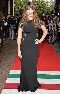 Jennifer Garner looks stunning in a black cutout dress at the Men, Women & Children premiere at the Toronto Film Festival