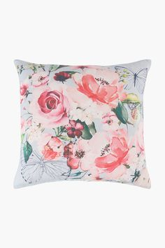 Woven Floral Scatter Cushion Cover, 50x50cm - Shop New In - Home Déco Scatter Cushions, Throw Pillows, Home Decor Shops, Floral Prints, Cover, Fabric, Design, Tejido, Toss Pillows