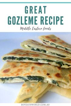 Are you looking for what to make for lunch or even dinner? Try this Middle Eastern recipe for Gozleme! I dinner recipes I recipes to try I food I what to cook I international recipes I dishes to make I dishes to cook I meal ideas I meals to cook I international meal ideas I what to cook for dinner I Middle Eastern food recipes I travel inspired recipes I global recipes I Global cuisine I middle eastern recipes I lunch ideas I recipes for lunch I #recipes #food Lunch Recipes, Vegetarian Recipes, Dinner Recipes, Cooking Recipes, Healthy Recipes, Vegetarian Lunch, Savory Snacks, Savoury Dishes, Healthy Snacks