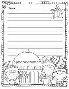 Enjoy This Free Patriotic Lined Writing PaperDonT Forget To