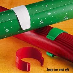 Wrapping paper clips...I have tried tape and paper clips; BOTH rip the paper!  I need these!