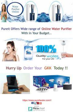 Buy Wide range of #Pureit #WaterPurifierOnline within your budget.
