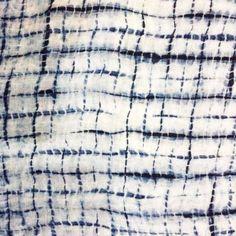 Lovely shibori by Kanchalee (Ann) Ngamdamronk, ,a textile designer from Bangkok, Thailand, who studied traditional indigo dyeing techniques in Japan. shibori6, kanchaleetextiles.wordpress.com