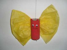 Summer craft for kids: Tissue Paper Butterfly