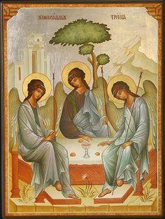 Η Φιλοξενία του Αβραάμ. (The Hospitality of Abraham, for you folks that don't read Greek.)