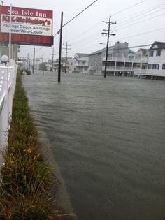 Landis Avenue looking north from 64th Street in Sea Isle City provided by Carmela Desiderio as Hurricane Sandy approaches Southern New Jersey, Monday Oct. 29, 2012