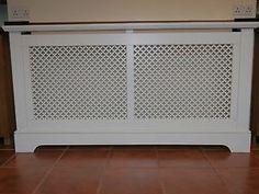 Large Radiator Cover Satin White   eBay