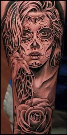 tatuajes de catrinas para mujeres 4