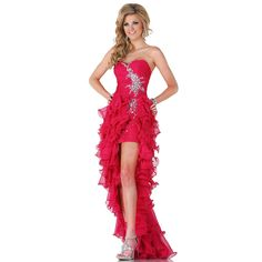 >> Click to Buy << Red Crystal Pleated Short Front Long Back Tiered Prom Dresses Sweetheart Party Gown Dress Hot Sale 2016 Crystal Evening P15002 #Affiliate