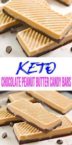 Keto Chocolate Peanut Butter Candy Bars You Won't Be Able To Stop Eating! These low carb candy bars are so amazing. With just about 10 minutes to mix up these low carb keto candy bar recipe you can't… Peanut Butter Candy, Peanut Butter Chocolate Bars, Low Carb Candy, Keto Candy, Chocolate Peanuts, Mint Chocolate, Keto Desserts, Keto Snacks, Sans Gluten