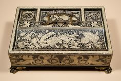 Pen-work Inkstand - Digby Chadwick Antiques