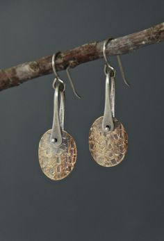 I like the technique.Petite Medallion Earrings by MaggieJs on Etsy