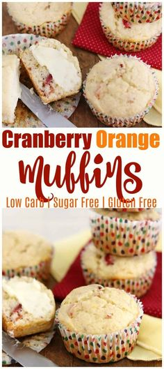 Orange and cranberry are a classic pairing that tastes amazing around Christmas These low carb sugarfree and glutenfree muffins use orange peel and just enough cranberrie. Low Carb Sweets, Low Carb Desserts, Dessert Recipes, Cupcake Recipes, Healthy Low Carb Recipes, Low Carb Dinner Recipes, Keto Recipes, Healthy Food, Diabetic Recipes
