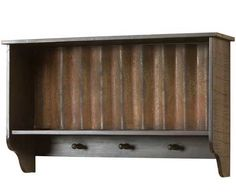 Corrugated Steel Hooks and Shelf