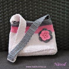 Návody na kabelky, tašky, síťovky Projects To Try, Crochet Patterns, Crochet Hats, Petra, Accessories, Crocheting, Doll, Crochet Pouch, Crochet Bags