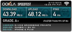 Check out my Ookla Speedtest result. What's your speed? #speedtest
