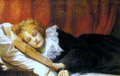 A Book At Bedtime, Emma Irlam Briggs. English, (1890-1950)