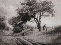 Pour les Moissonniers (1922) (photogravure)  Photographer: Léonard Misonne, Belgium
