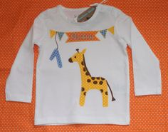 T-Shirts - Geburtstags-Shirt Giraffe - ein Designerstück von Suehse-Welt bei DaWanda