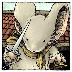 Mouse Guard portrait by David Petersen Art