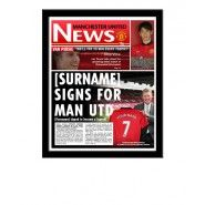 Manchester United Personalised Newspaper Manchester United Gifts, Manchester United Legends, Gifts For Football Fans, Van Persie, Personalized Football, Man United, Gifts For Boys, The Unit, Baseball Cards
