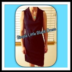 Price Cut ✂️- Little Black Express Dress Simple black dress from Express with low neck collar and tie in back; worn with care - in very good condition Express Dresses Midi