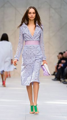 <3 This color.... English Lace Trench Coat: One of my favourite runway looks from the @Burberry Prorsum Womenswear S/S14 show