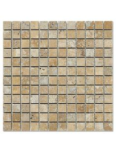 Marbleandthings is a leading US importer and wholesaler of Noce Travertine Square Pattern Tumbled Mesh Mounted Mosaic Tile.