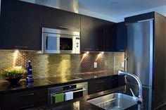 Modern condo design. Design collaborators: Reyes & Co. Design Studio and Samantha Concepcion Designs Kitchen Island, Kitchen Cabinets, Reyes, Lawn, Condo, Projects, Home Decor, Island Kitchen, Log Projects