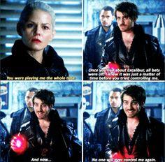 """No one will ever control me again"" - Dark Hook, Dark Swan and Merlin #OnceUponATime"